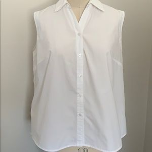 White Stag plus size white sleeveless blouse